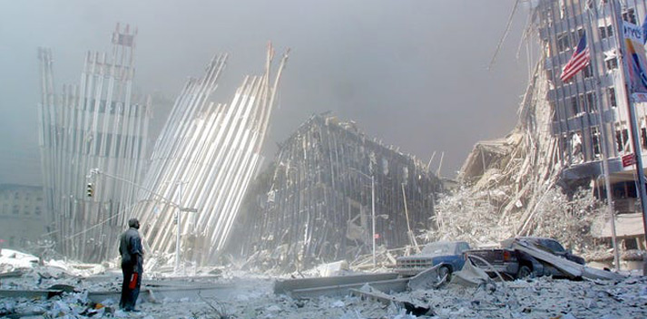 aftermath of twin towers