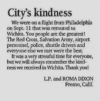 city's Kindness newspaper clipping