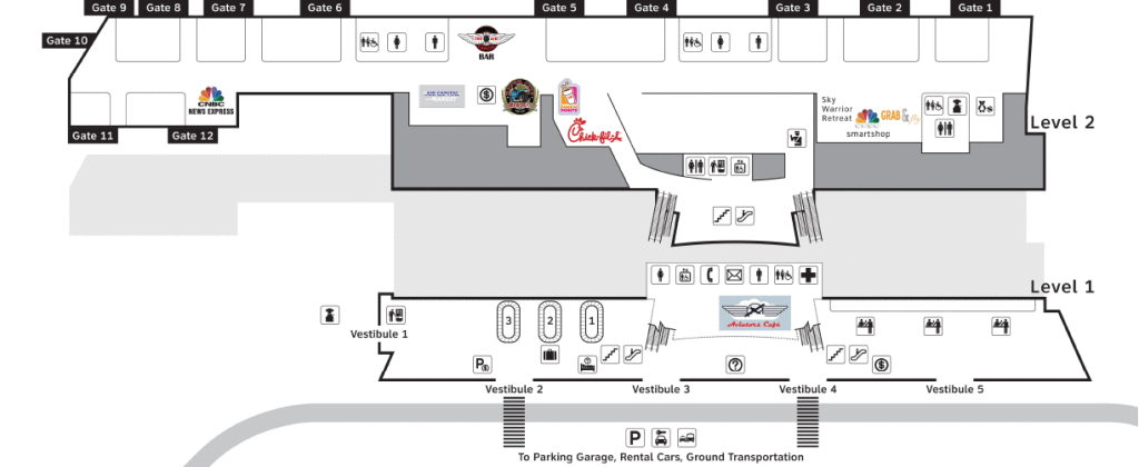 Ict Airport Map Terminal Map   Wichita Airport (ICT)