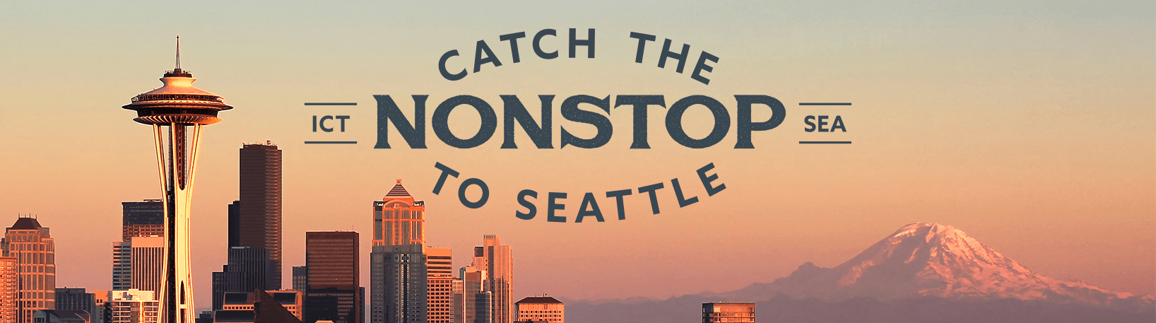 Fly Nonstop Wichita to Seattle with Alaska Air